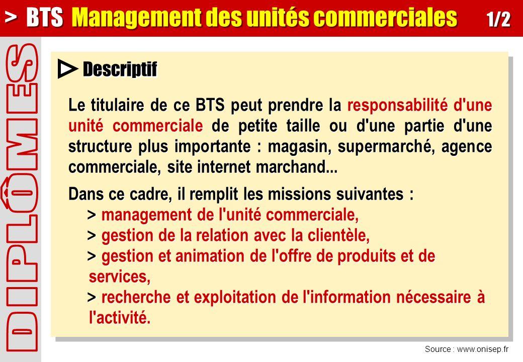 > BTS Management des unités commerciales 1/2