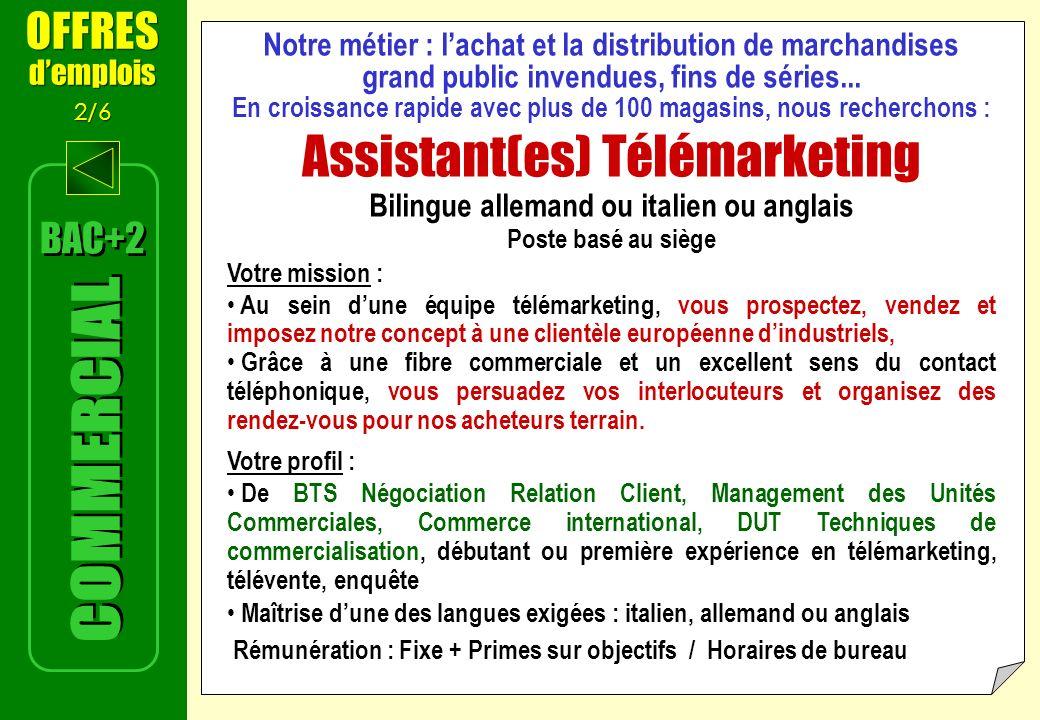 Assistant(es) Télémarketing