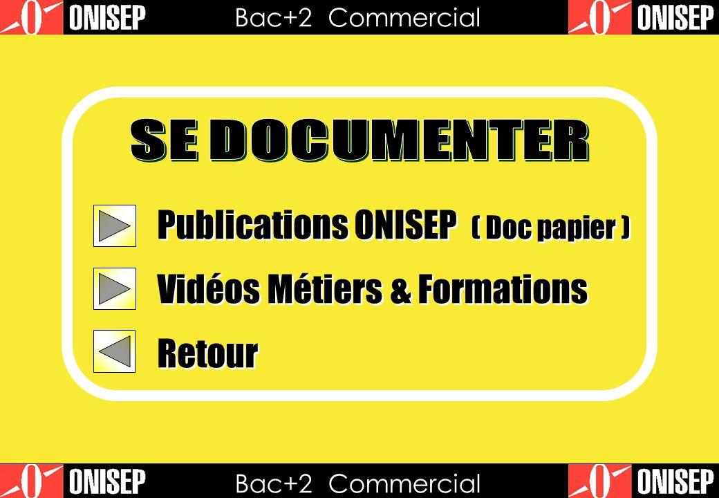 Publications ONISEP ( Doc papier ) Vidéos Métiers & Formations Retour