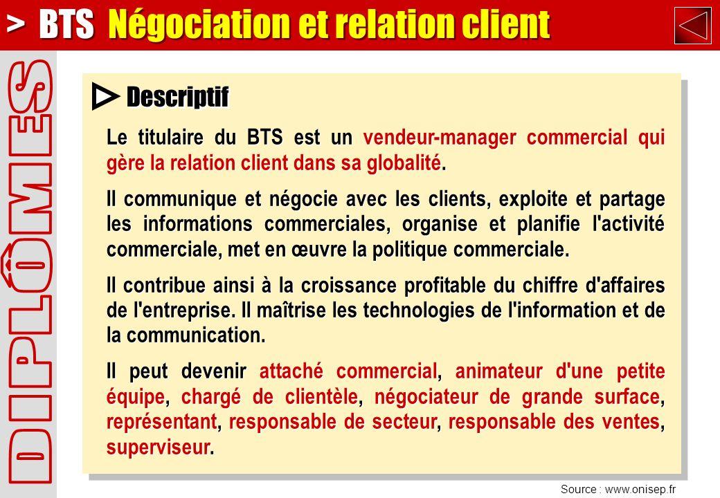 > BTS Négociation et relation client