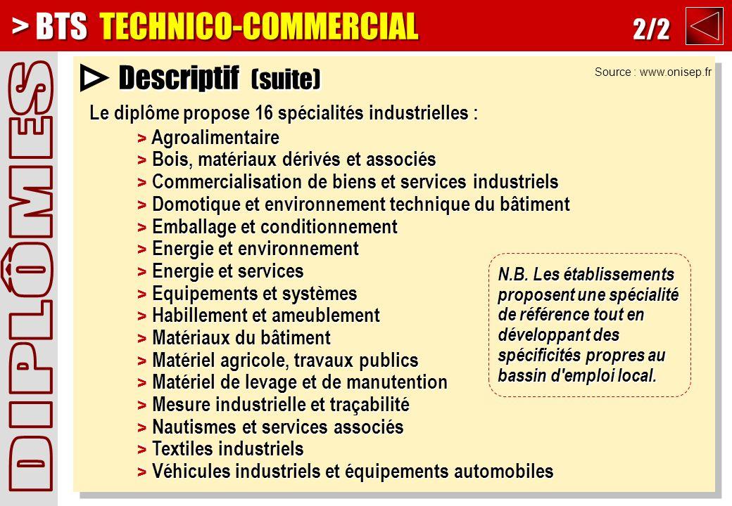 > BTS TECHNICO-COMMERCIAL 2/2