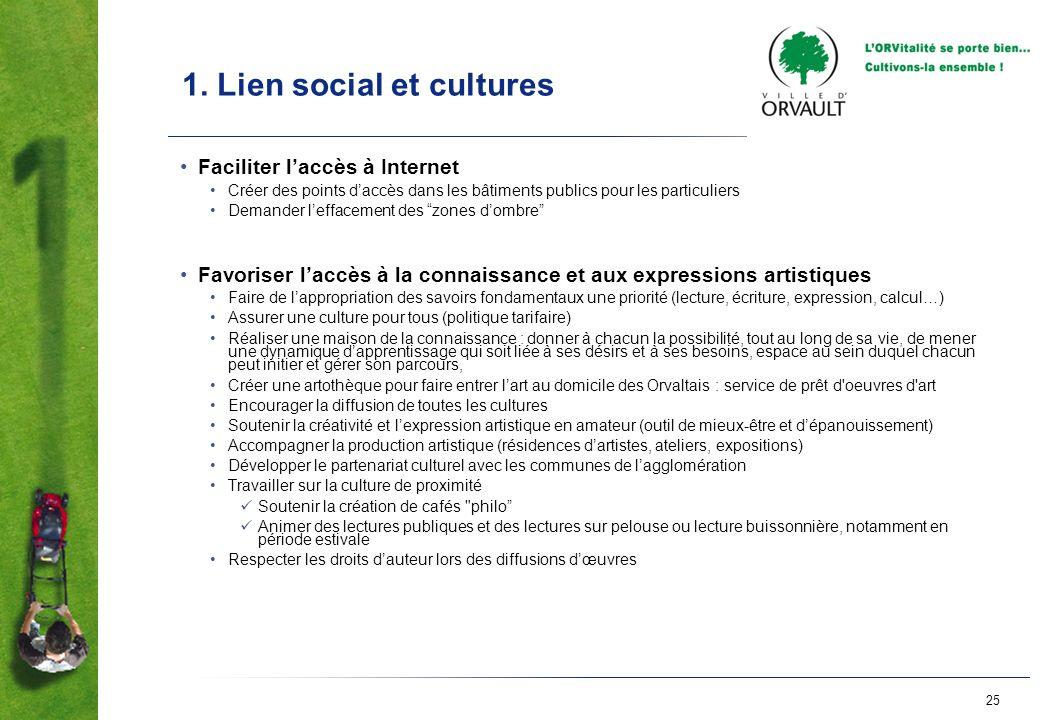 1. Lien social et cultures