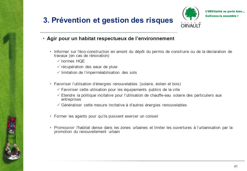 3. Prévention et gestion des risques
