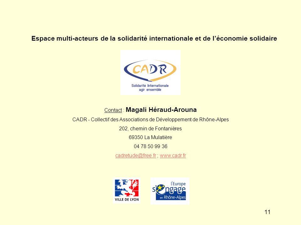 Espace multi-acteurs de la solidarité internationale et de l'économie solidaire