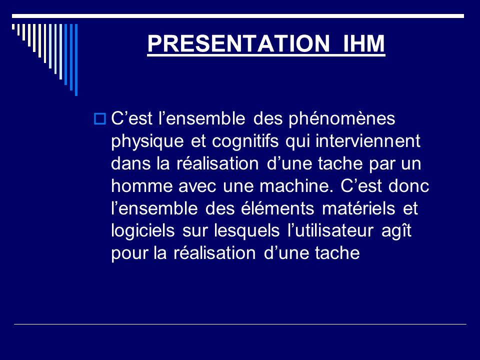 PRESENTATION IHM