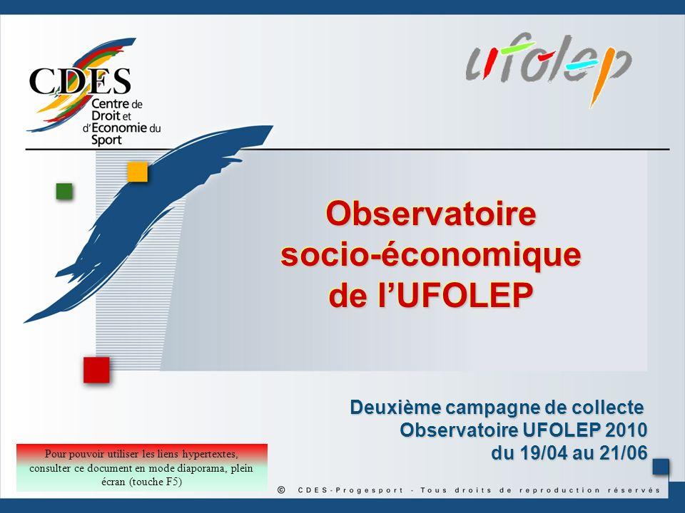 Observatoire socio-économique de l'UFOLEP