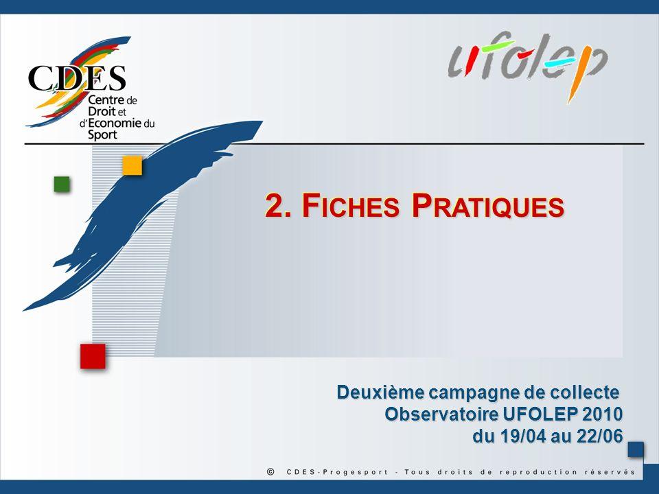 2. Fiches Pratiques Deuxième campagne de collecte