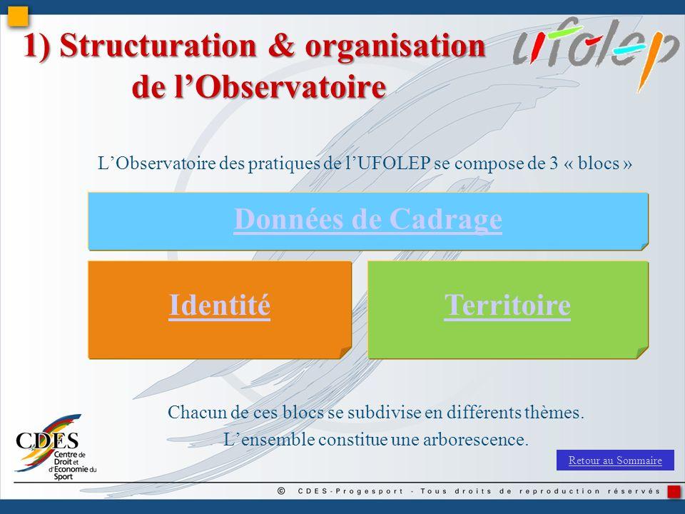 1) Structuration & organisation de l'Observatoire