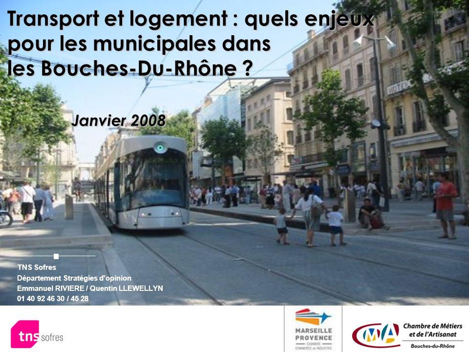 Transport et logement : quels enjeux pour les municipales dans les Bouches-Du-Rhône Janvier 2008