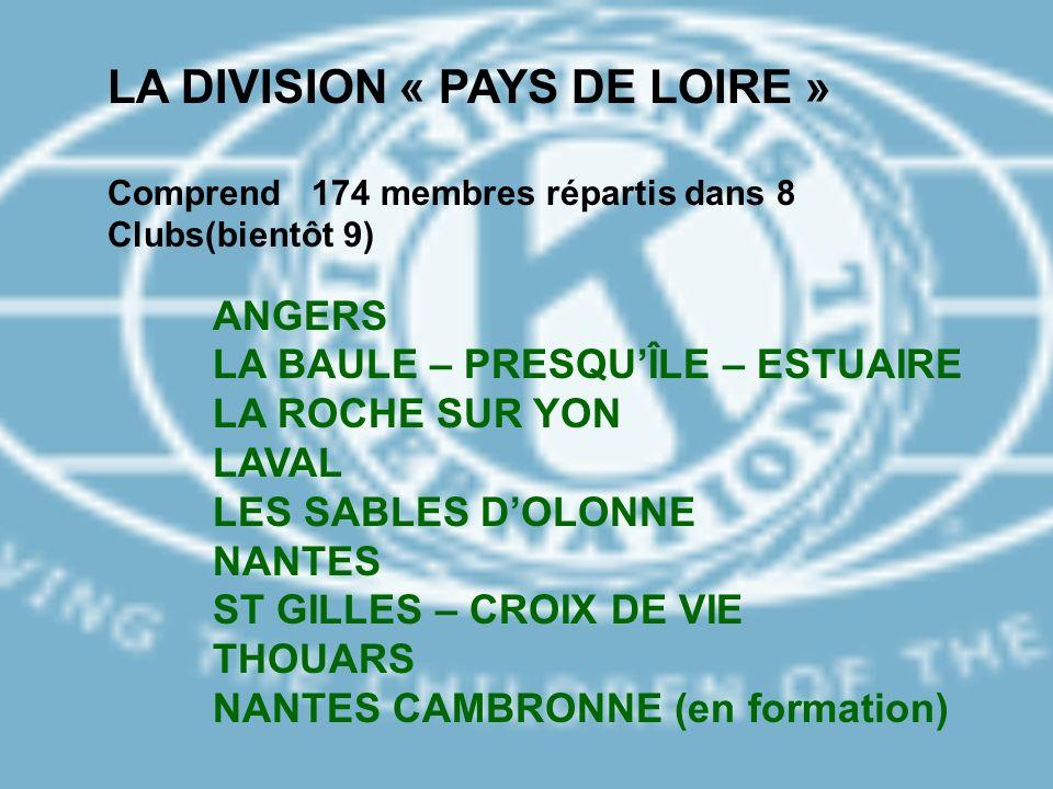 LA DIVISION « PAYS DE LOIRE »