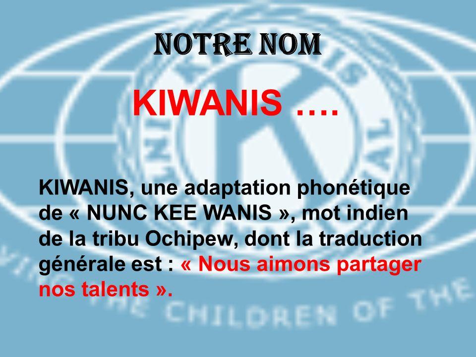 Notre nom KIWANIS ….