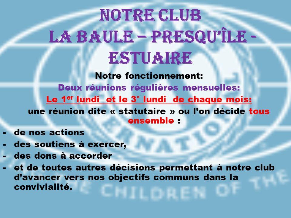 Notre CLUB LA BAULE – PRESQU'ÎLE - ESTUAIRE