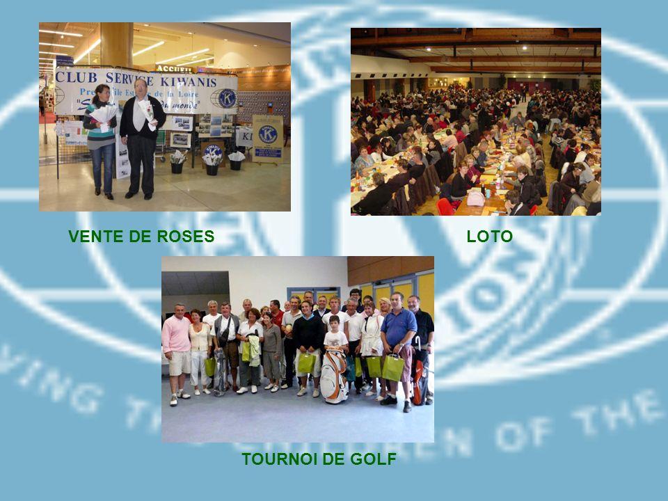VENTE DE ROSES LOTO TOURNOI DE GOLF