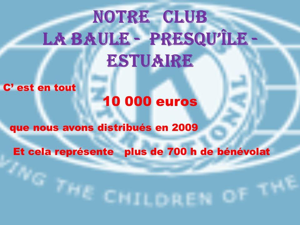 Notre CLUB LA BAULE - PRESQU'ÎLE - ESTUAIRE