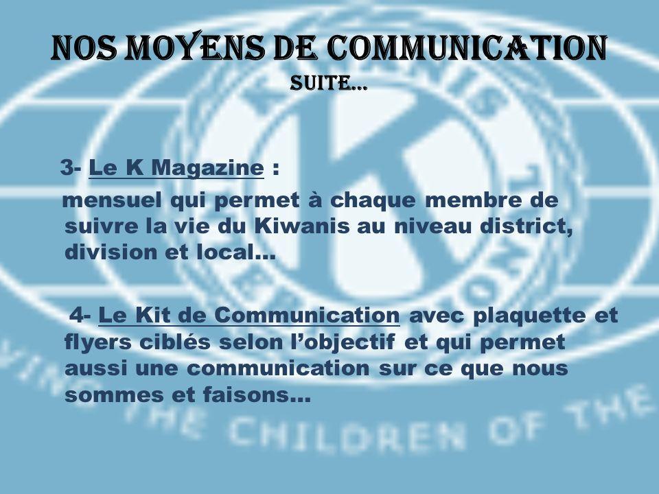 Nos moyens de communication suite…