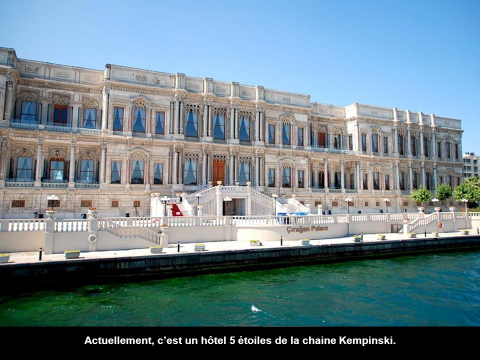 Actuellement, c'est un hôtel 5 étoiles de la chaine Kempinski.