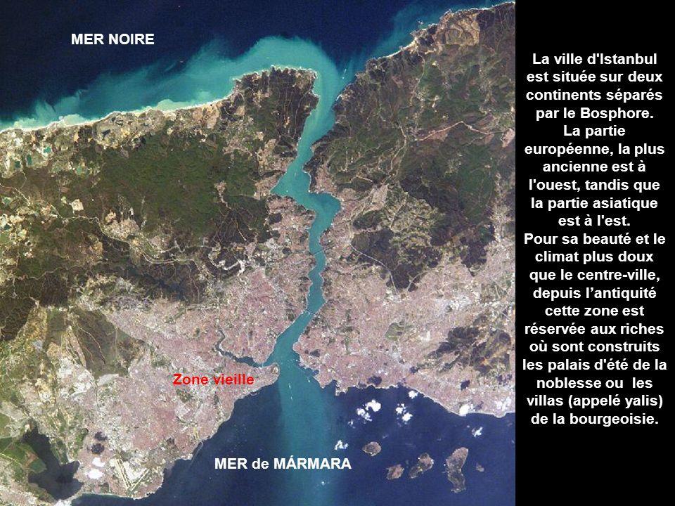 MER NOIRE La ville d Istanbul est située sur deux continents séparés par le Bosphore.