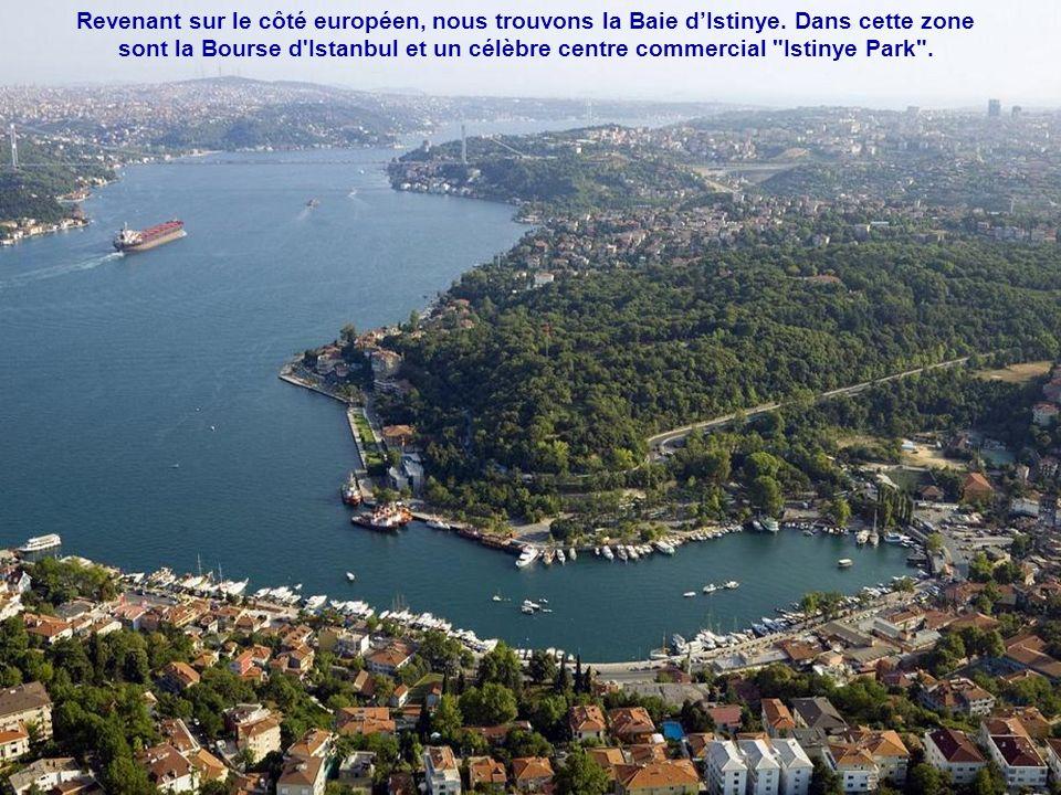 Revenant sur le côté européen, nous trouvons la Baie d'Istinye