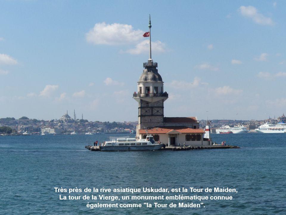 Très près de la rive asiatique Uskudar, est la Tour de Maiden,