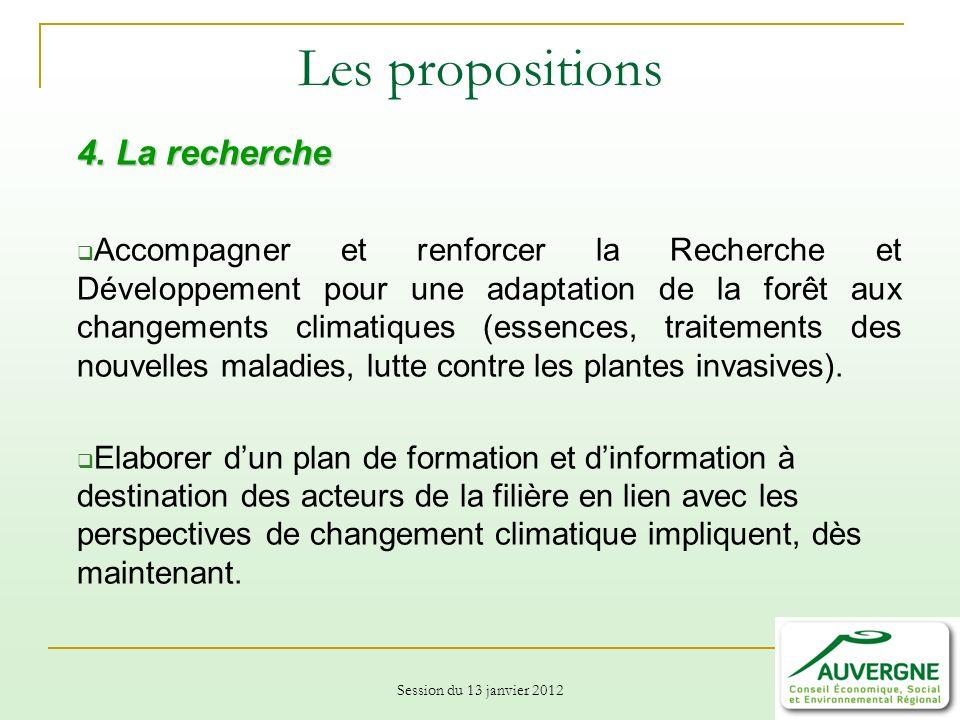 Les propositions 4. La recherche