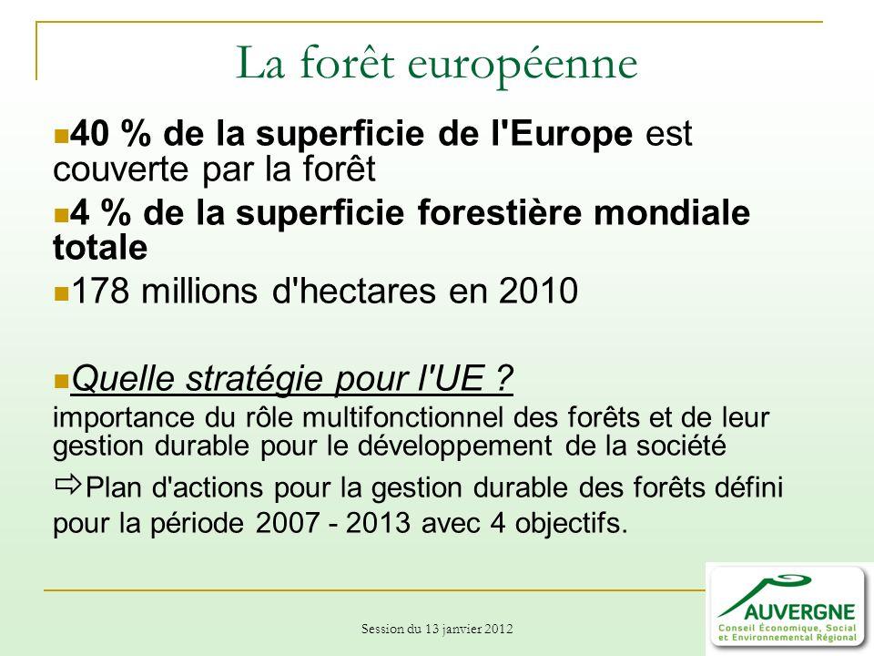 La forêt européenne 40 % de la superficie de l Europe est couverte par la forêt. 4 % de la superficie forestière mondiale totale.