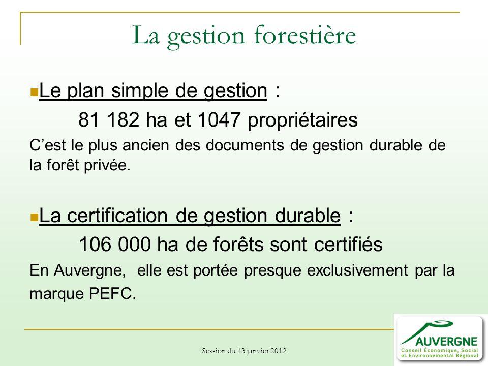 La gestion forestière Le plan simple de gestion :