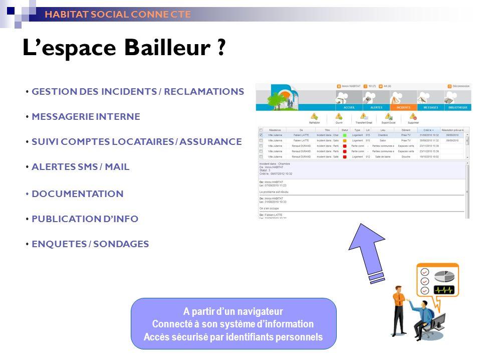 L'espace Bailleur A partir d'un navigateur