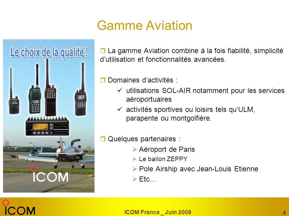 Gamme Aviation La gamme Aviation combine à la fois fiabilité, simplicité d'utilisation et fonctionnalités avancées.