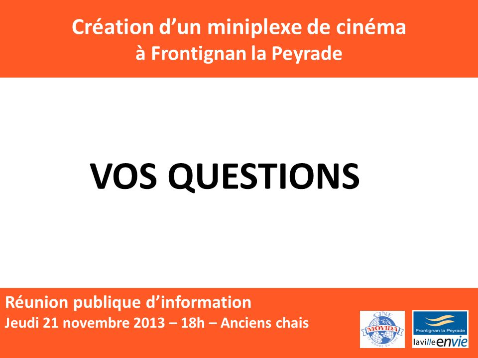 Création d'un miniplexe de cinéma à Frontignan la Peyrade
