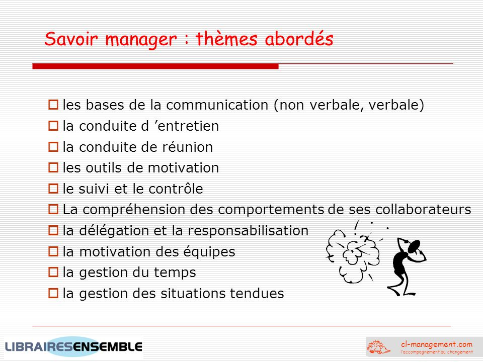 Savoir manager : thèmes abordés