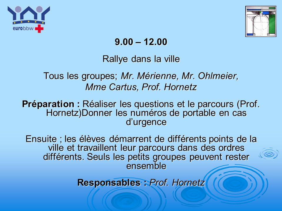 Tous les groupes; Mr. Mérienne, Mr. Ohlmeier,