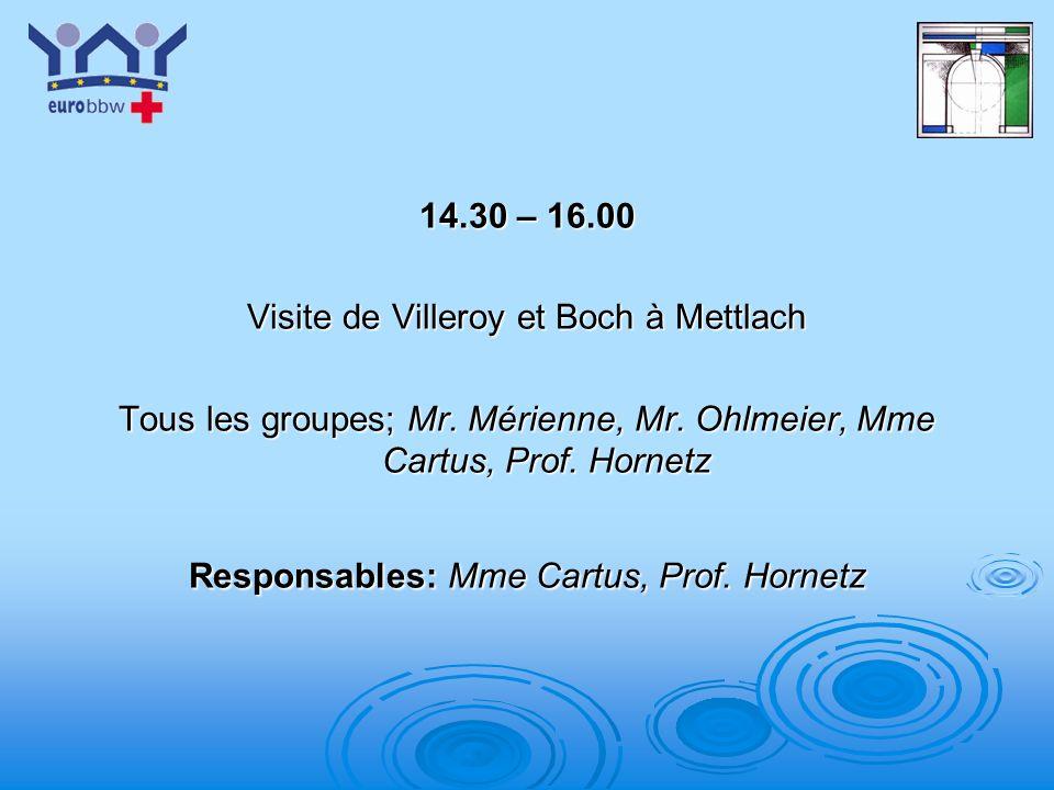 Visite de Villeroy et Boch à Mettlach