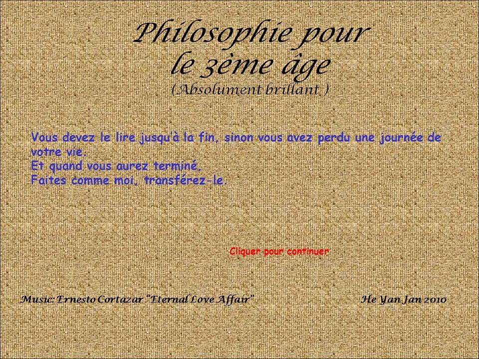 Philosophie pour le 3ème âge