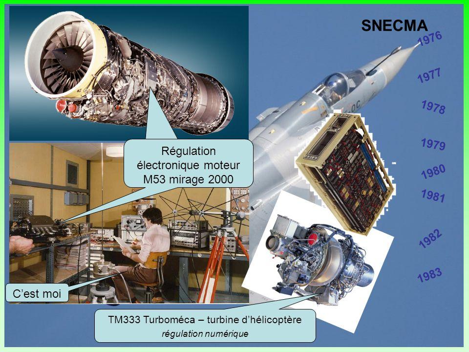 SNECMA 1976. 1977. 1978. 1979. Régulation électronique moteur M53 mirage 2000. Régulation électronique moteur M53 mirage 2000.