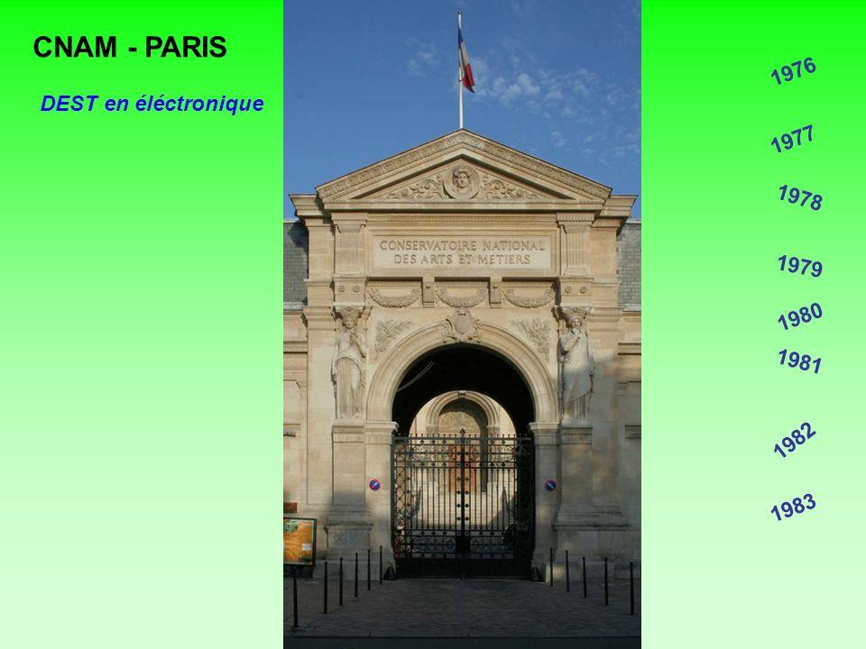CNAM - PARIS 1976 DEST en éléctronique 1977 1978 1979 1980 1981 1982