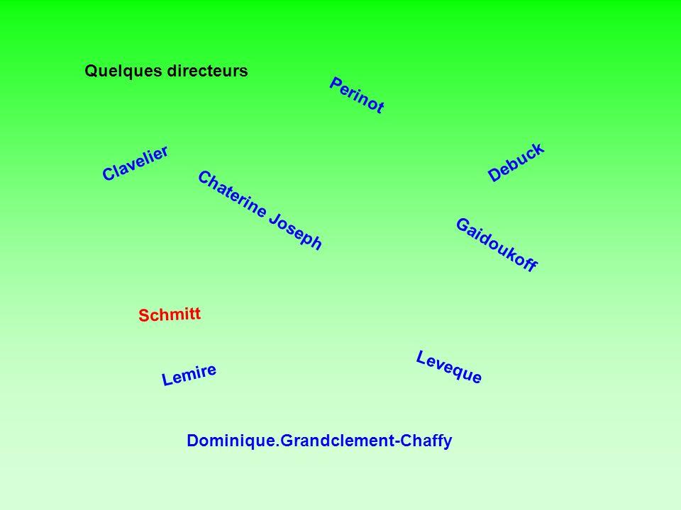 Quelques directeurs Perinot. Debuck. Clavelier. Chaterine Joseph. Gaidoukoff. Schmitt. Lemire.