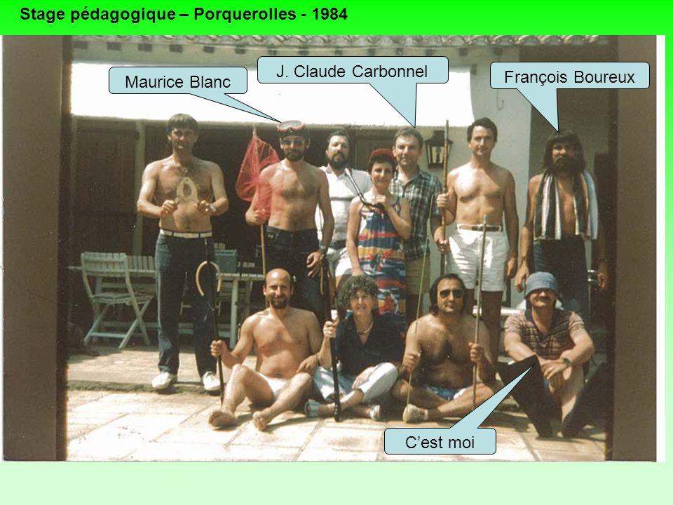 Stage pédagogique – Porquerolles - 1984