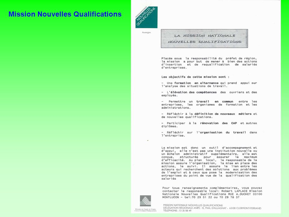 Mission Nouvelles Qualifications