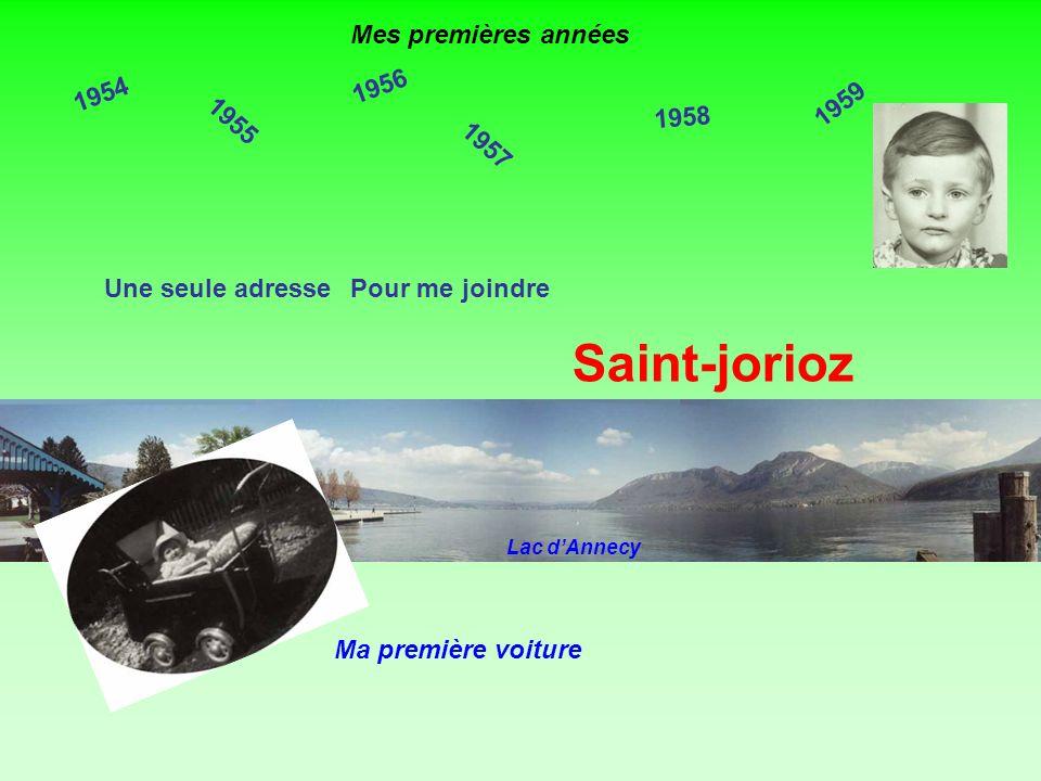 Saint-jorioz Mes premières années 1956 1954 1959 1958 1955 1957