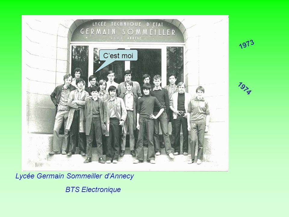 1973 C'est moi 1974 Lycée Germain Sommeiller d'Annecy BTS Electronique