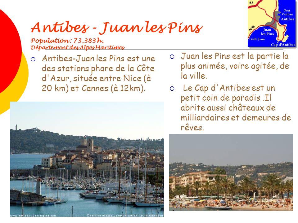 Antibes - Juan les Pins Population : 73. 383 h
