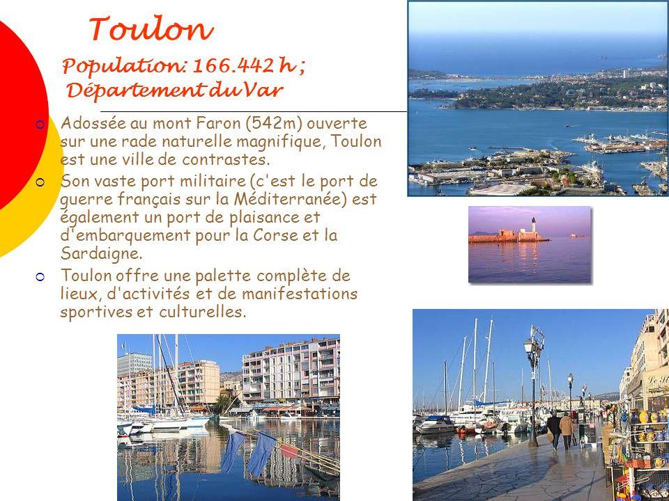 Toulon Population: 166.442 h ; Département du Var