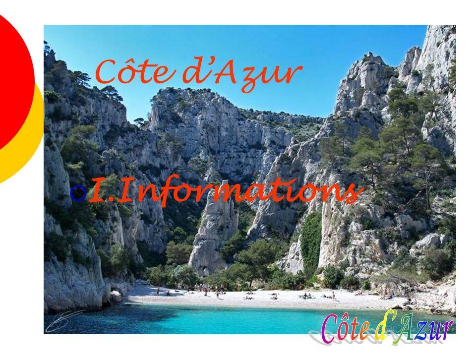 Côte d'Azur I.Informations Côte d'Azur