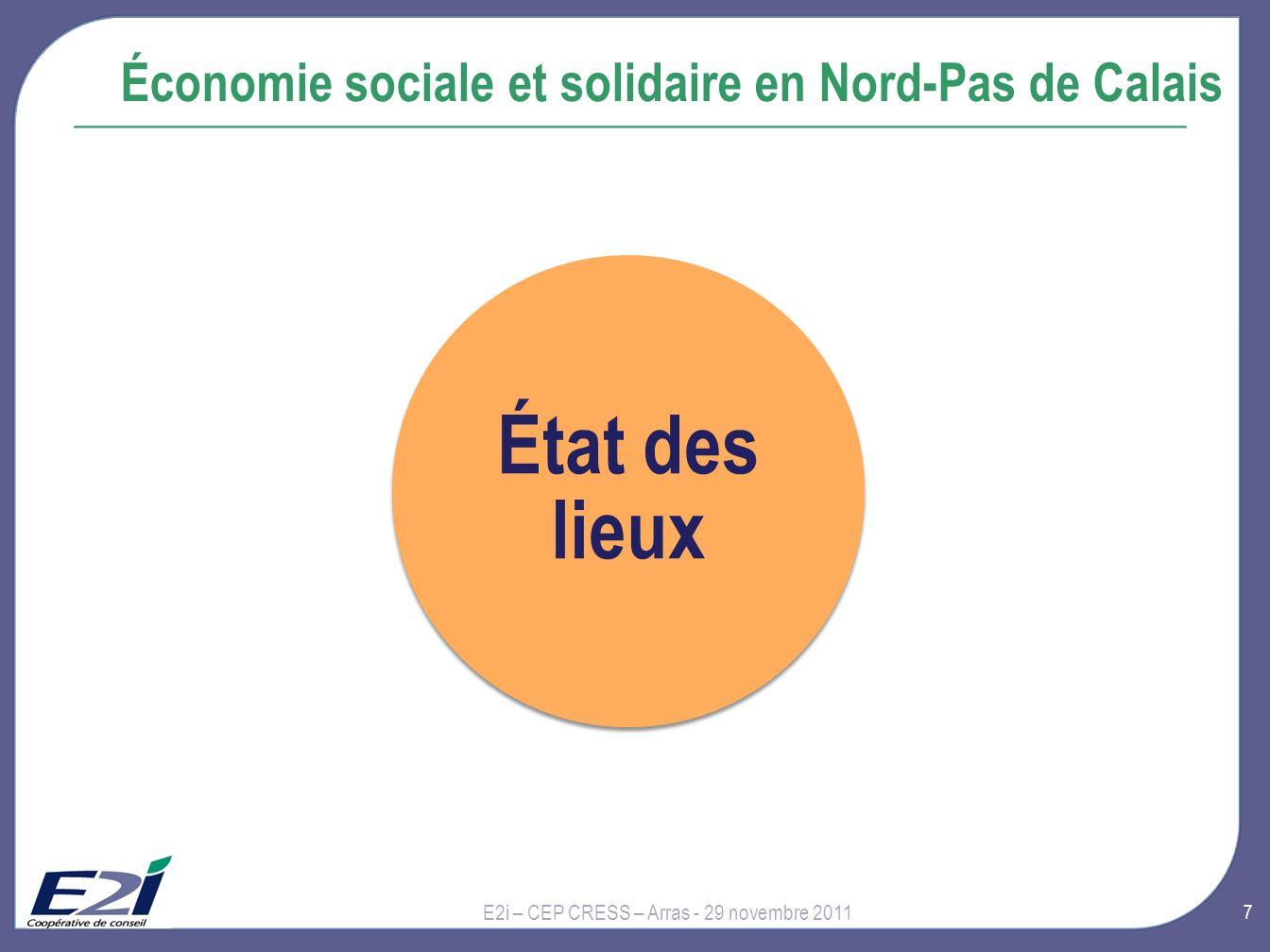 État des lieux Économie sociale et solidaire en Nord-Pas de Calais