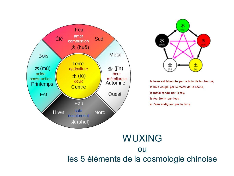 les 5 éléments de la cosmologie chinoise