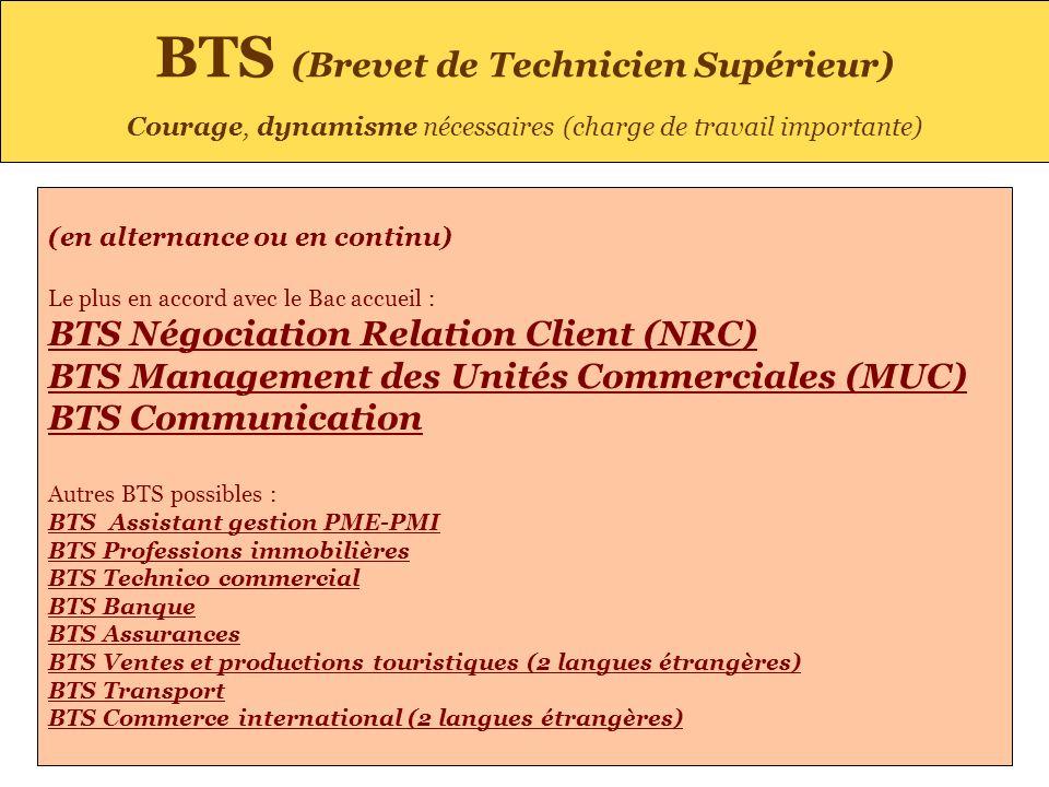 BTS (Brevet de Technicien Supérieur)