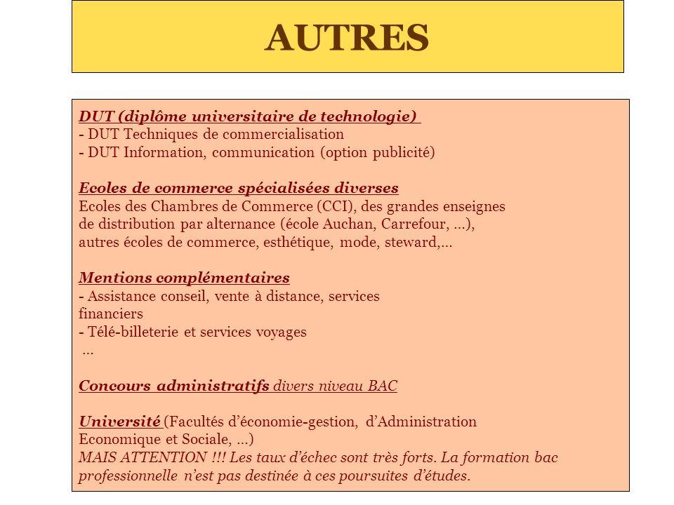 AUTRES DUT (diplôme universitaire de technologie)