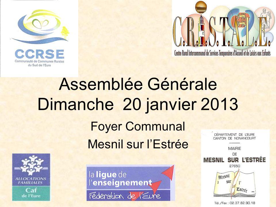 Assemblée Générale Dimanche 20 janvier 2013