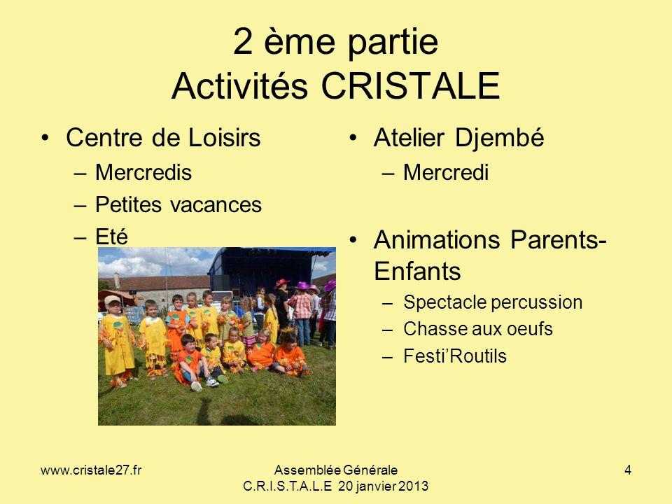 2 ème partie Activités CRISTALE