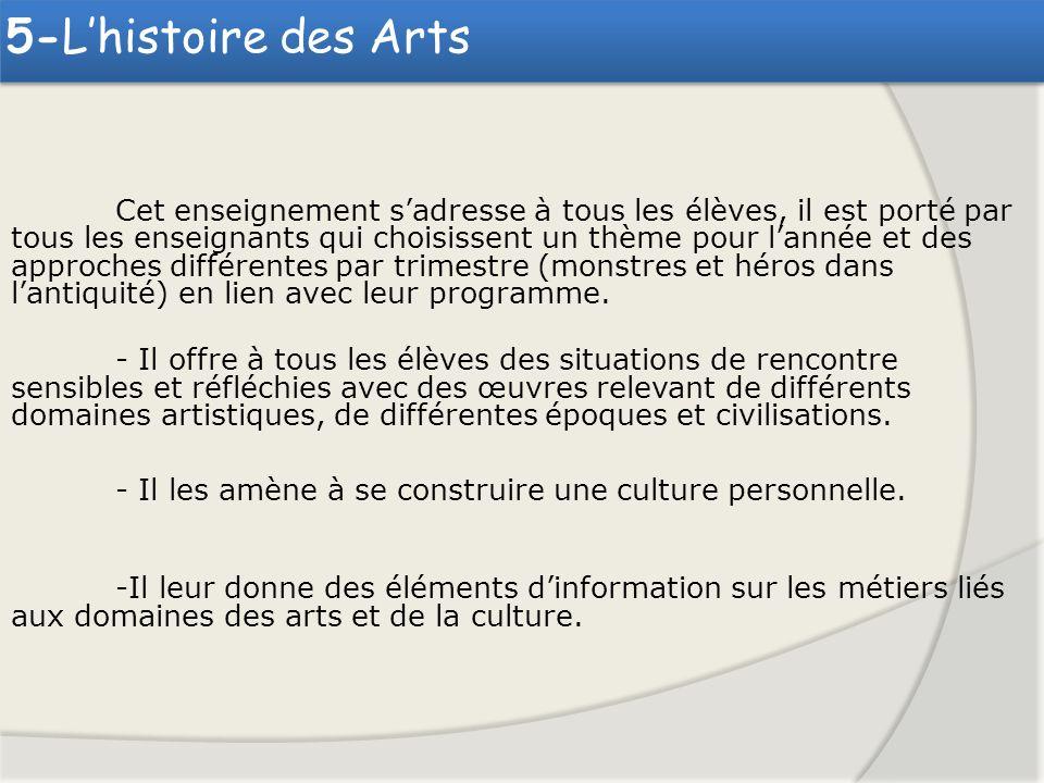 5-L'histoire des Arts